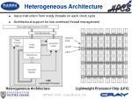 heterogeneous architecture
