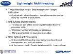 lightweight multithreading