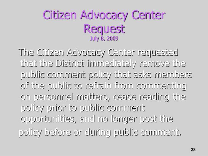 Citizen Advocacy Center