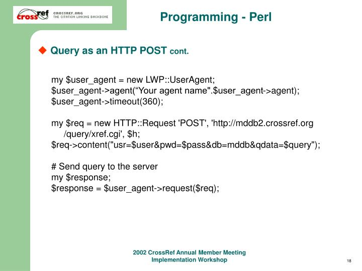 Programming - Perl