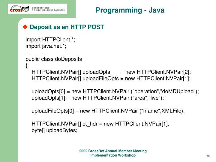Programming - Java