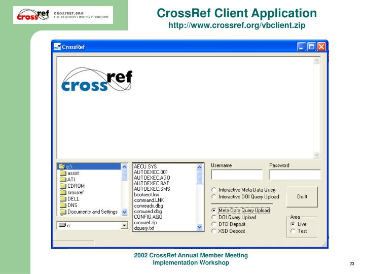 CrossRef Client Application