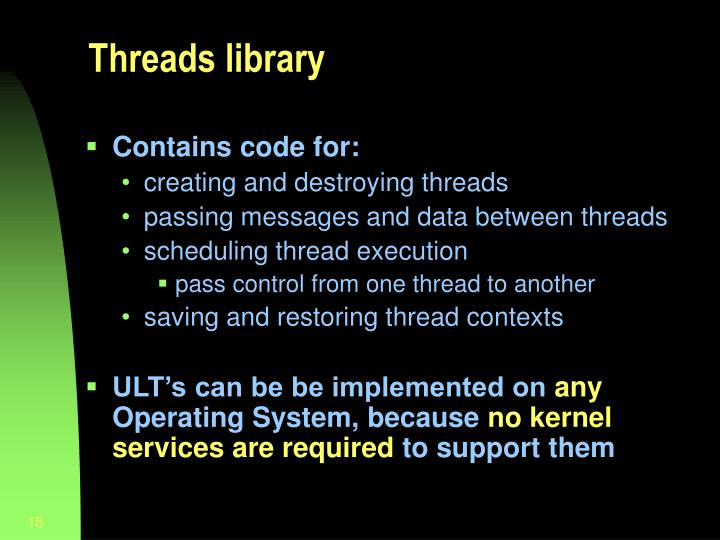 Threads library