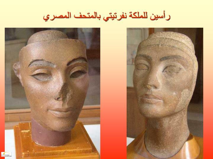 رأسين للملكة نفرتيتي بالمتحف المصري