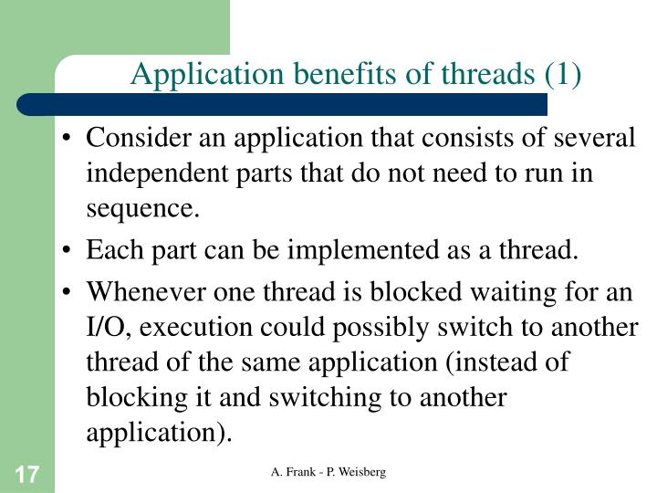 Application benefits of threads (1)