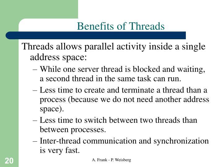 Benefits of Threads