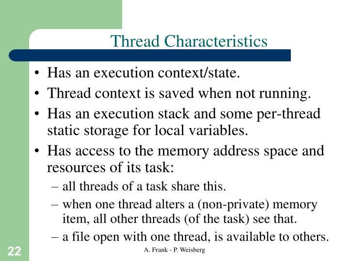 Thread Characteristics