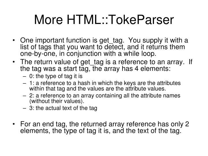 More HTML::TokeParser
