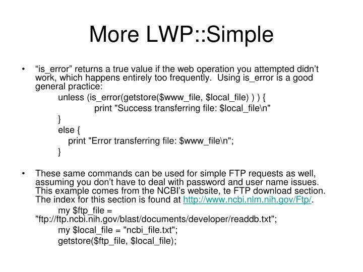 More lwp simple