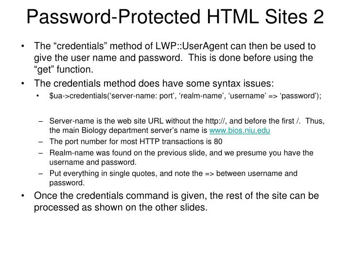 Password-Protected HTML Sites 2