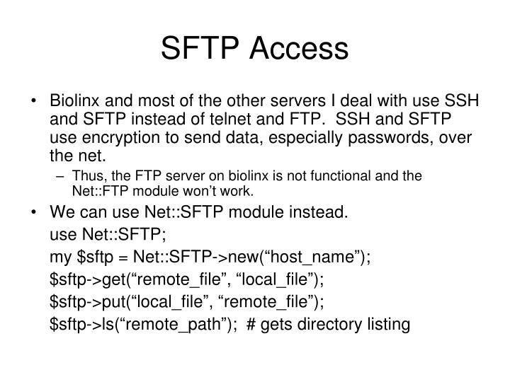 SFTP Access