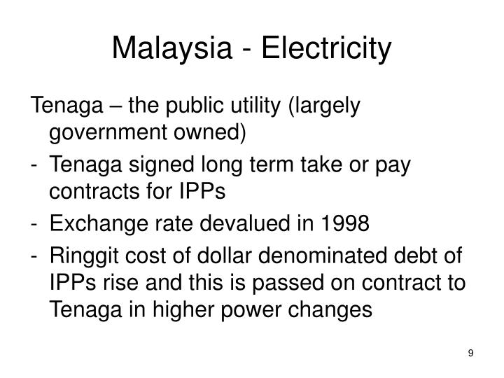 Malaysia - Electricity
