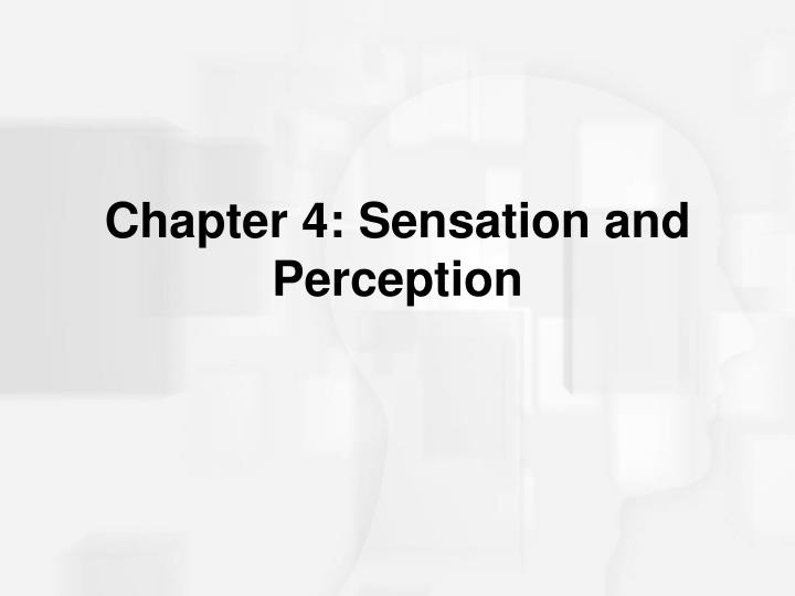 Chapter 4 sensation and perception