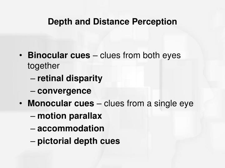 Depth and Distance Perception