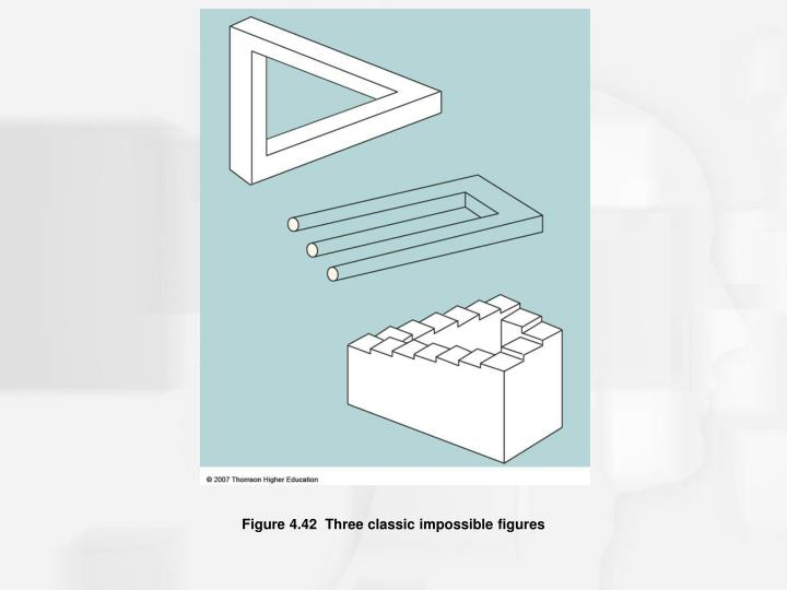 Figure 4.42  Three classic impossible figures