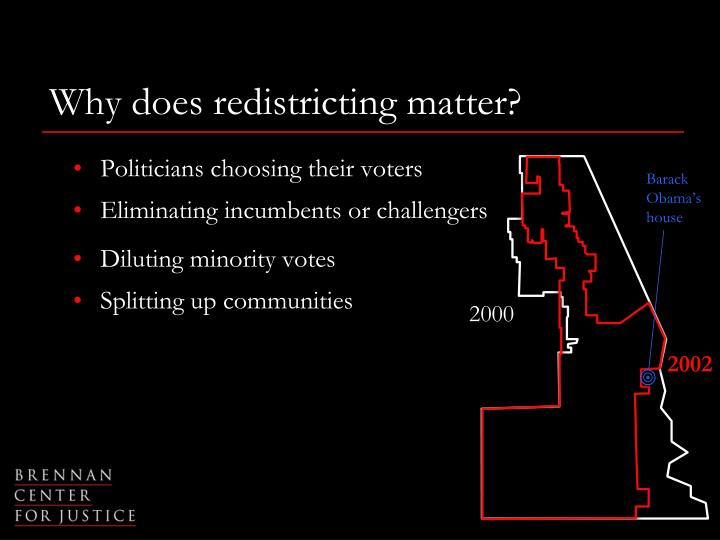Why does redistricting matter?