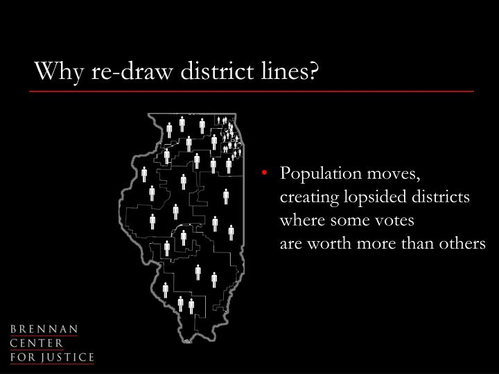 Why re-draw district lines?