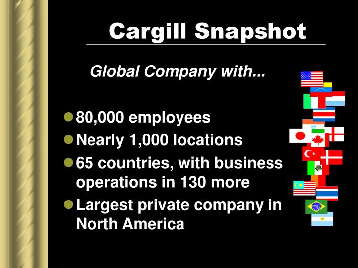 Cargill snapshot