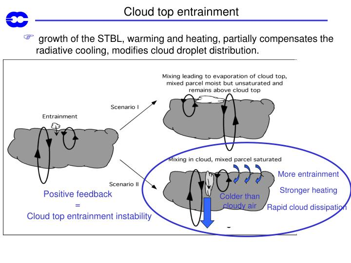 Cloud top entrainment