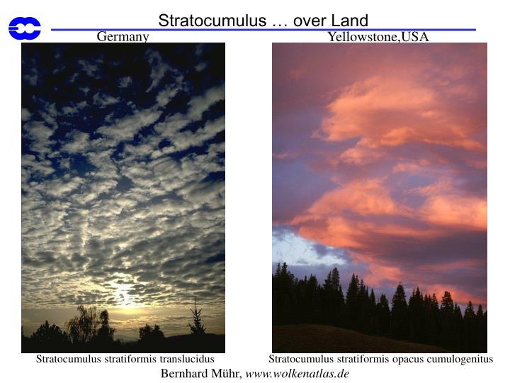 Stratocumulus … over Land