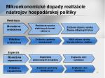 mikroekonomick dopady realiz cie n strojov hospod rskej politiky