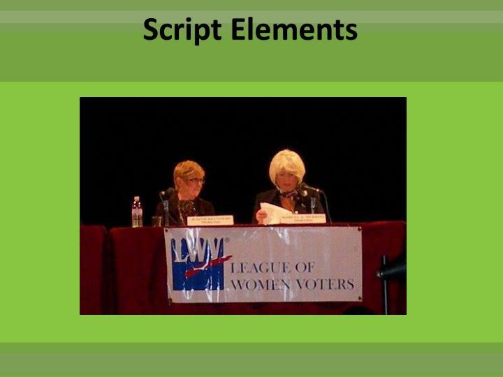 Script Elements