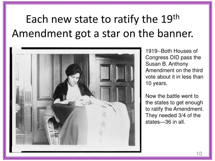 Each new state to ratify the 19