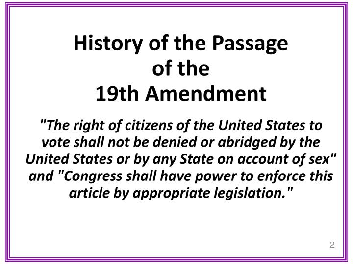 History of the Passage