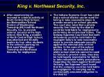 king v northeast security inc