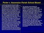 porter v ascension parish school board
