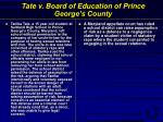 tate v board of education of prince george s county