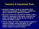 teachers intentional torts