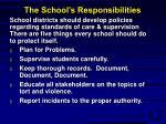 the school s responsibilities