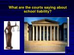 what are the courts saying about school liability