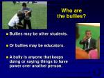 who are the bullies