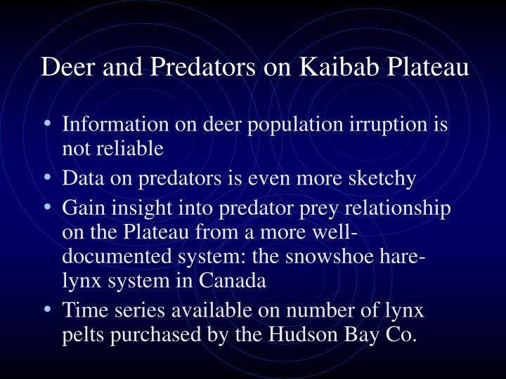 Deer and predators on kaibab plateau