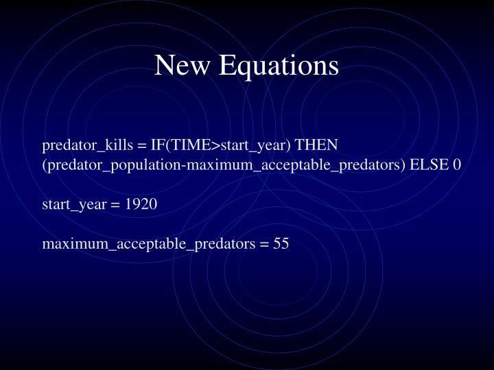 New Equations