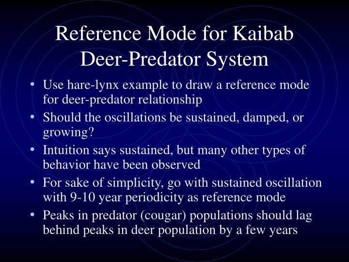 Reference Mode for Kaibab Deer-Predator System