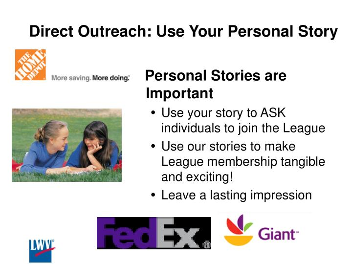 Direct Outreach: Use Your Personal Story