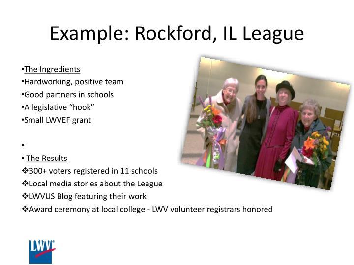 Example: Rockford, IL League