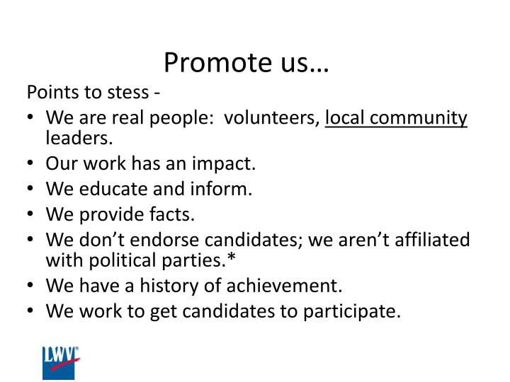 Promote us…