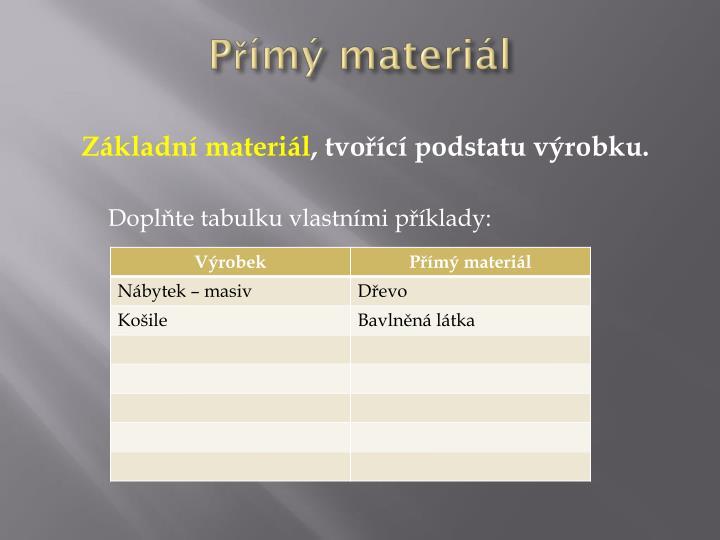 Přímý materiál