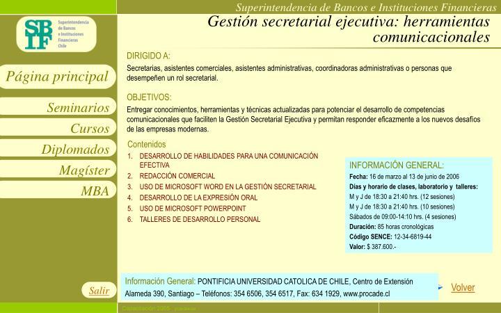 Gestión secretarial ejecutiva: herramientas comunicacionales