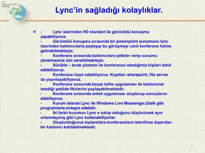 Lync'in