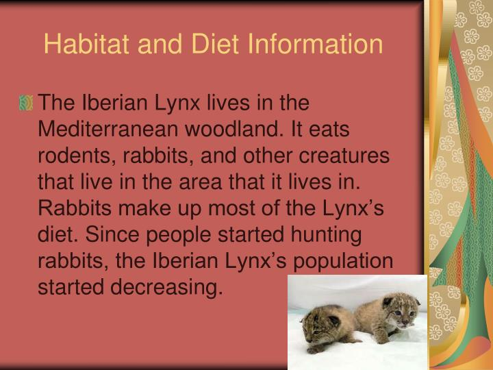 Habitat and Diet Information