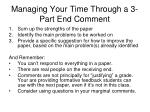managing your time through a 3 part end comment