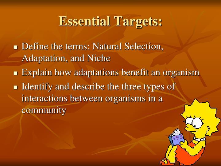 Essential targets