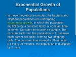 exponential growth of populations2