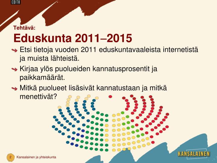 Teht v eduskunta 2011 2015