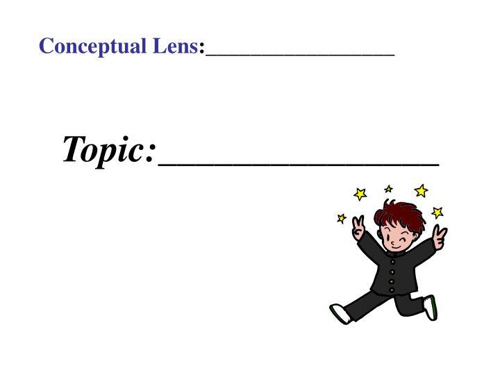 Conceptual Lens